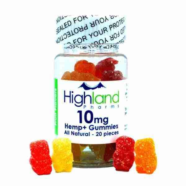 groovyhempcompany.com provides Highland Pharms All-Natural CBD Gummies, 200mg Organic CBD Oil, 10mg per piece.