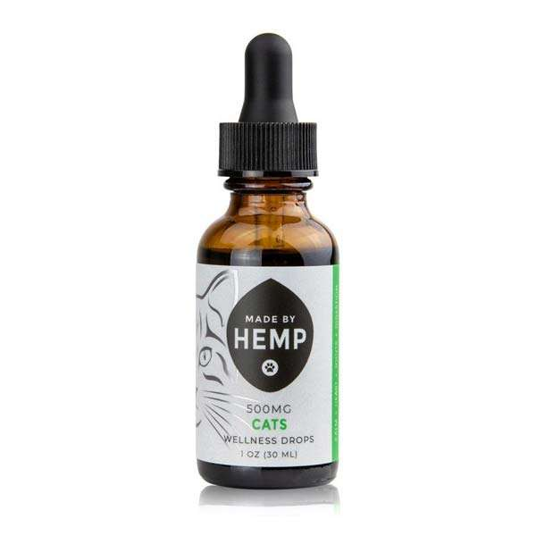 groovyhempcompany.com provides Made by Hemp Organic CBD for Cats 1 oz, 500mg CBD.