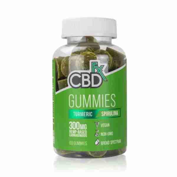 groovyhempcompany.com provides CBDfx Gummy Bears with Tumeric and Spirulina 60 Count, 5mg Organic CBD.