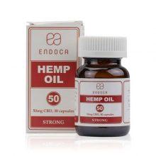 Hemp Oil Capsules, 30 Pack, 50mg Organic CBD