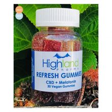 Refresh CBD Gummies With Melatonin – 25mg CBD Per Piece