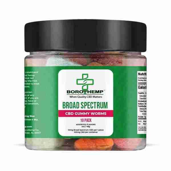 groovyhempcompany.com provides Boro Hemp 35mg Broad-spectrum CBD 2, 10, 100 Pack Gummy Worms