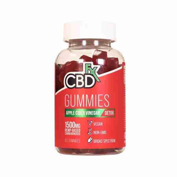 groovyhempcompany.com provides CBDfx Apple Cider Vinegar Gummy Bears 60 Count, 25mg Organic CBD.