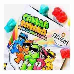Cannaa Banana Neon Delta 8 Gummie Bears